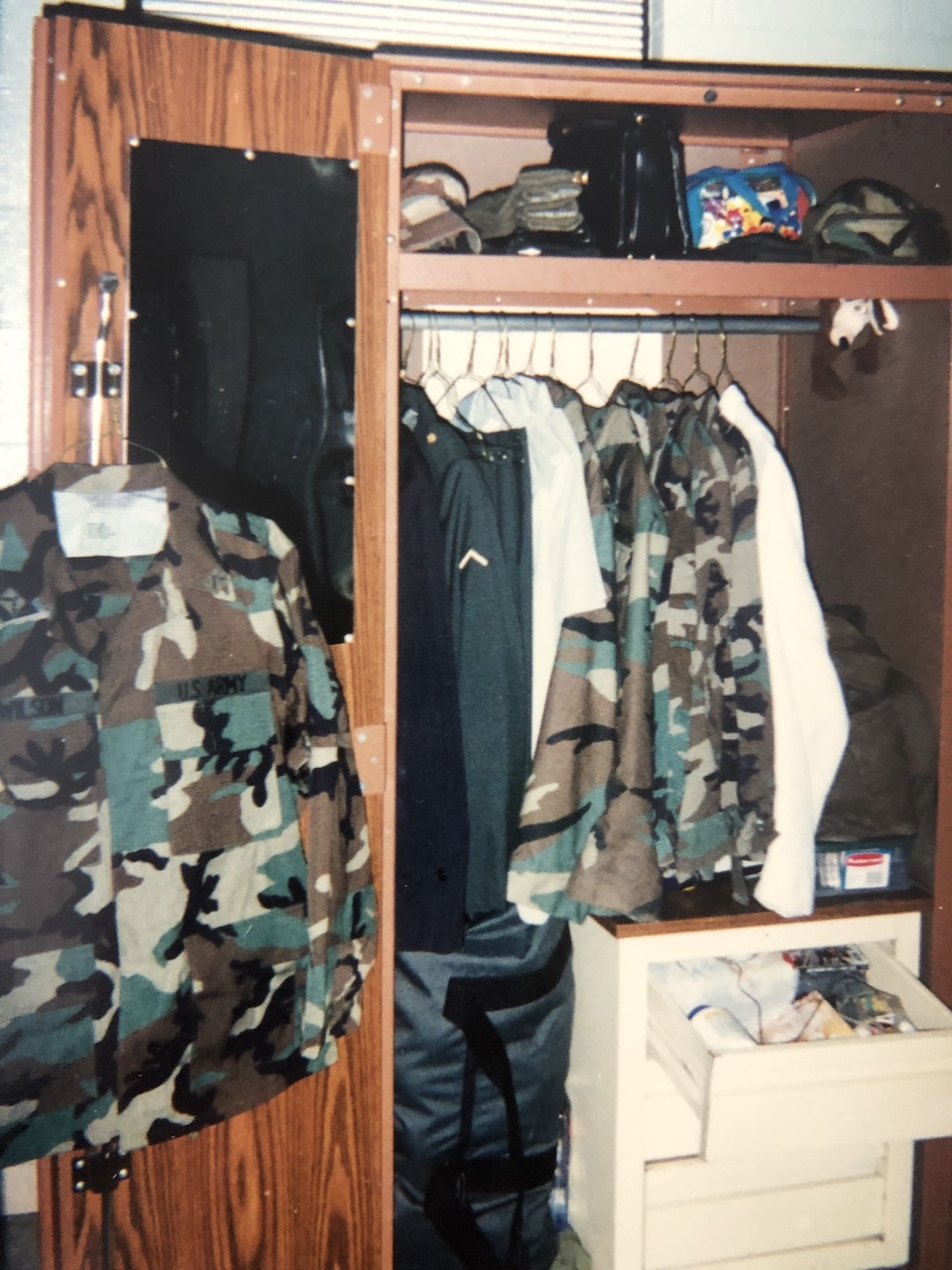 Image of my foot locker from AIT