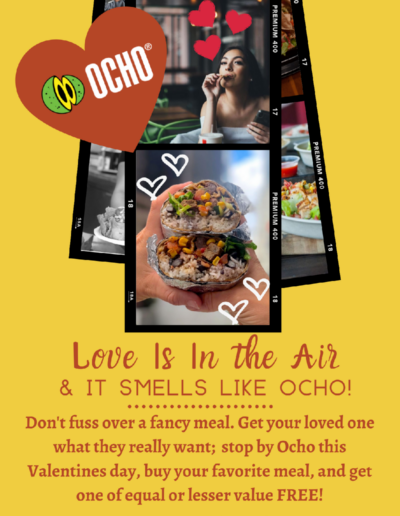 Email Marketing example for Client Ocho Mexican in Downtown Los Angeles