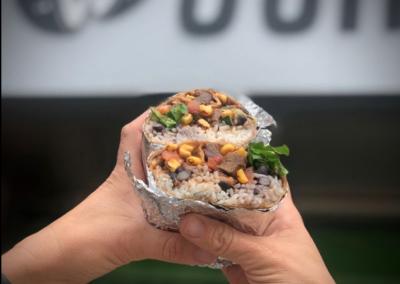 Burrito at Ocho Mexican Downtown