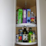 Storing Items in Lazy Susan Cabinets