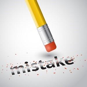 erase a mistake