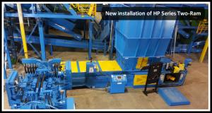 Two ram 2 ram recycling equipment machines
