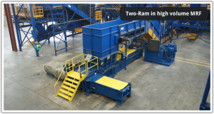 two ram 2 ram recycling equipment machines NY, NJ, Eastern PA, CT
