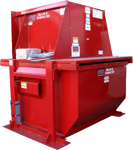 Vertical baler and compactor recycling equipment machines