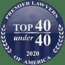 Premier Lawyers- 40Under40 Badge