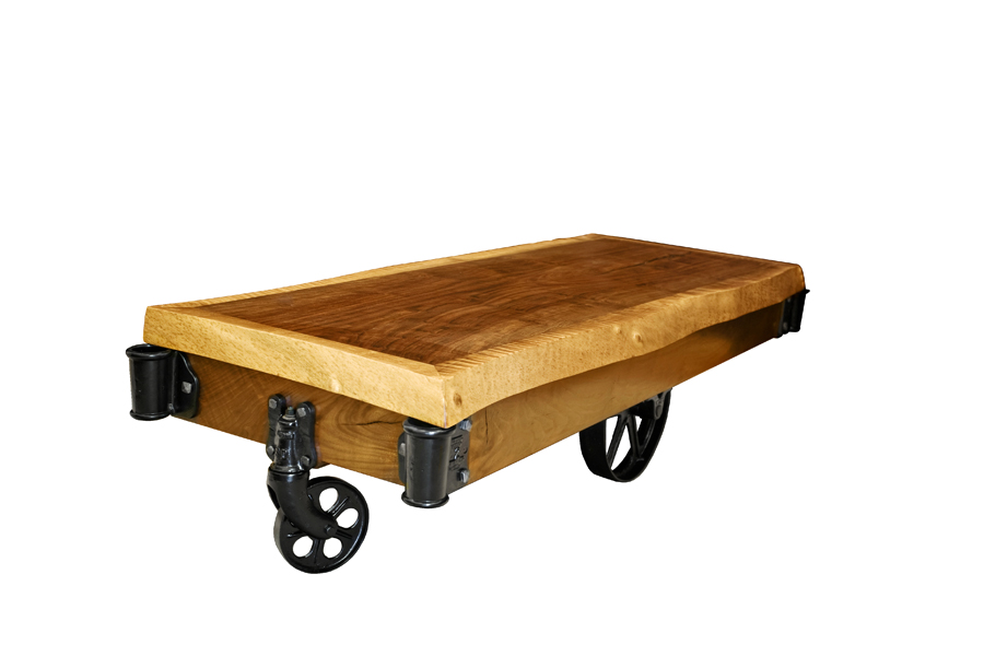 Claro Walnut Live Edge Factory Cart