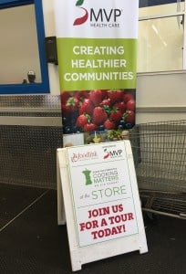 MVP Health Care partners with Foodlink for the Cooking Matters with the Store program.