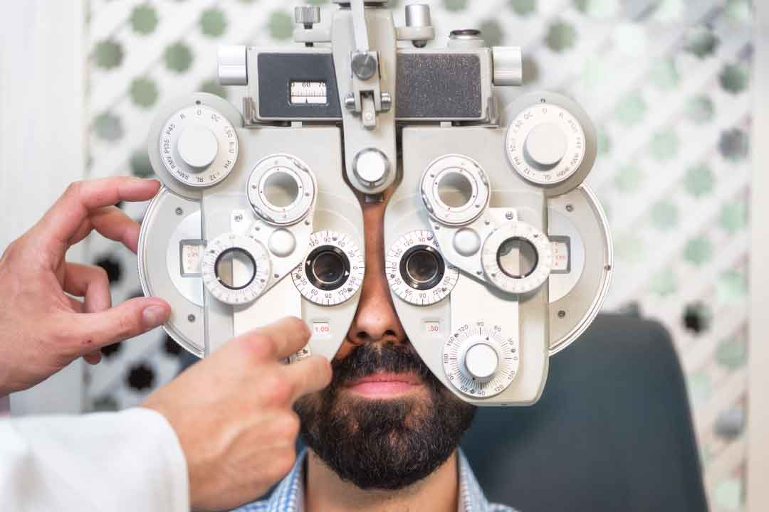Diabetes and eye tests