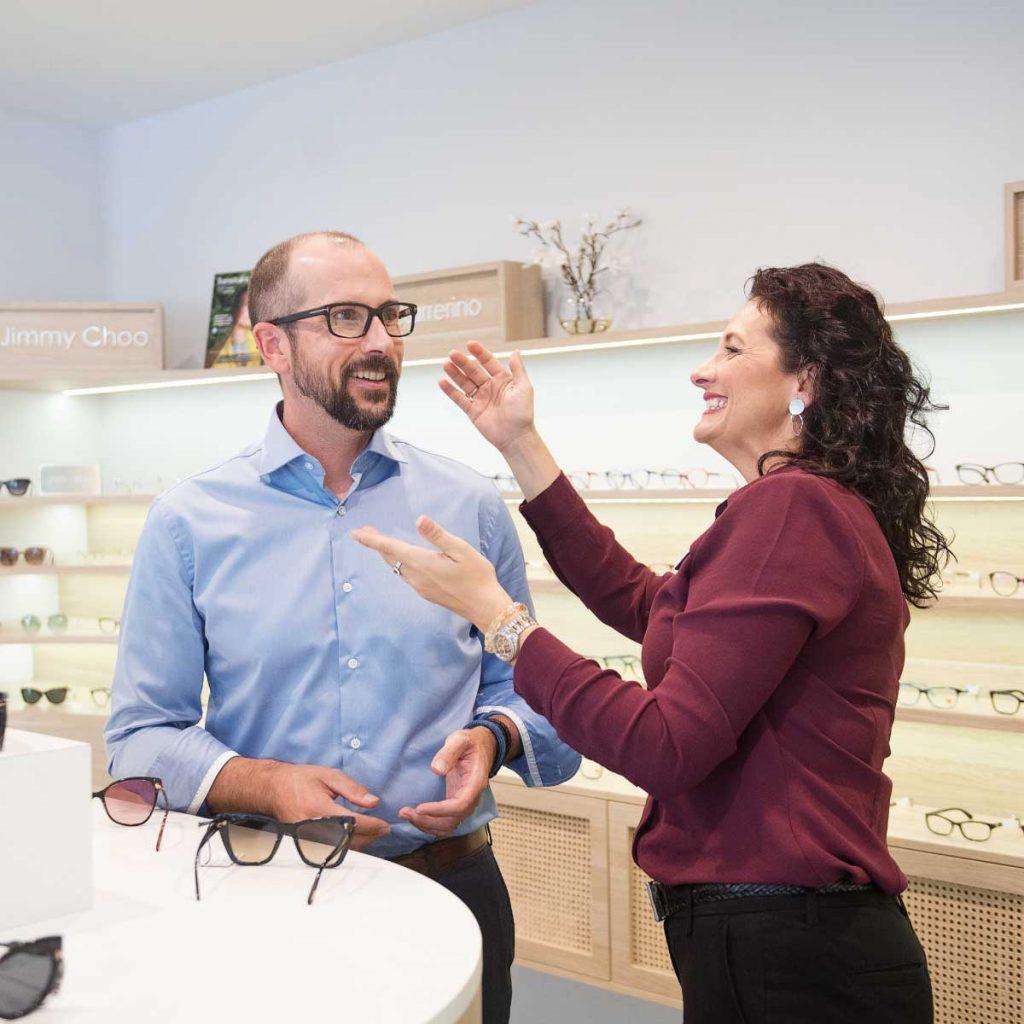 Designer frames at Eyecare Plus Ashgrove