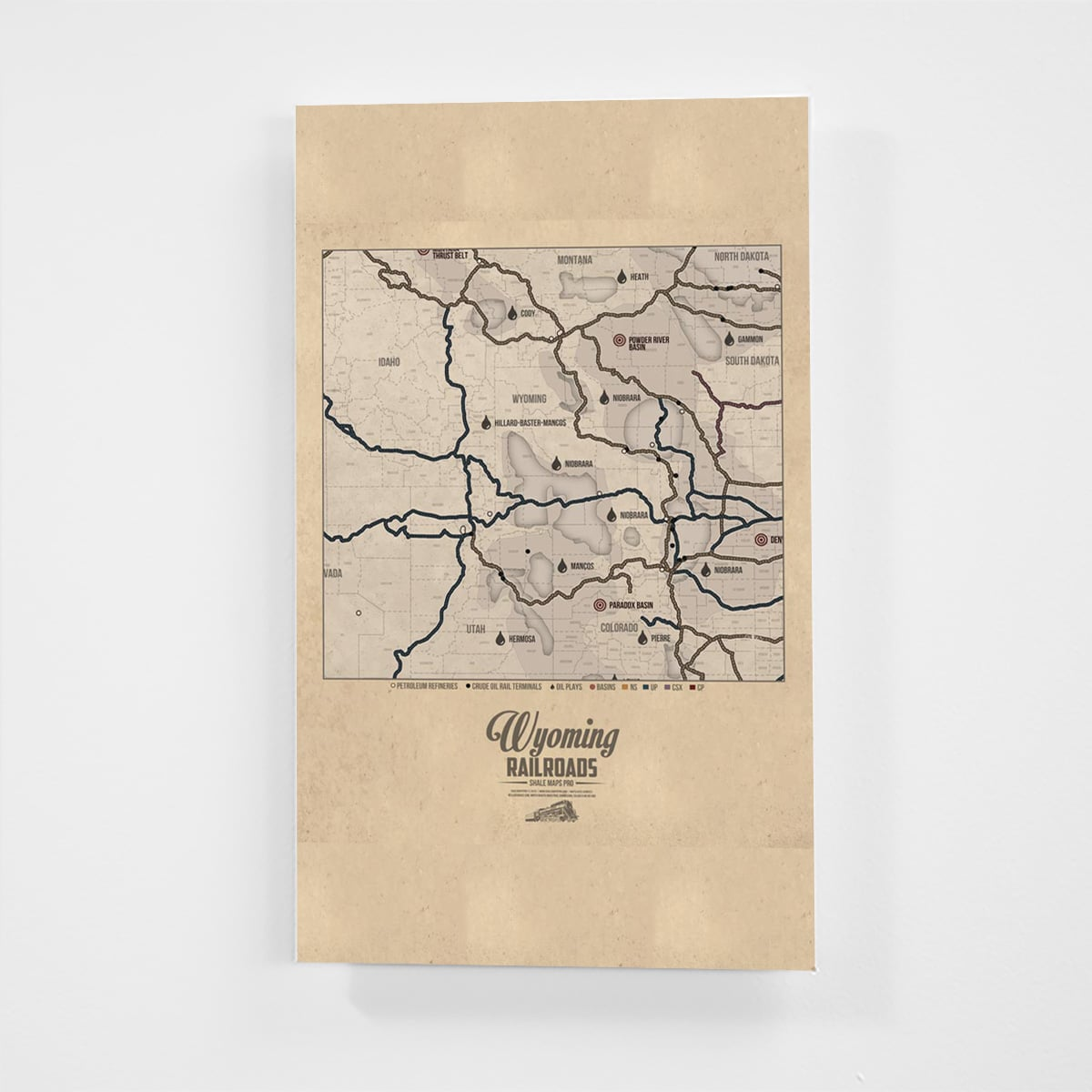 Wyoming Railroad Map & Shale Oil Plays Map