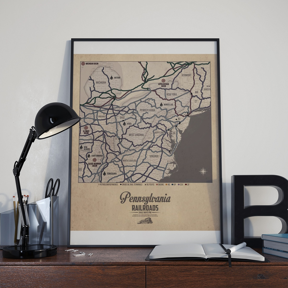 Pennsylvania Railroad Map & Oil Plays Map