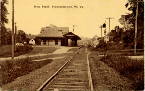 POSTCARD OF THE NEW DEPOT, SHEPHERDSTOWN