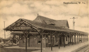 POSTCARD OF THE SHEPHERDSTOWN STATION