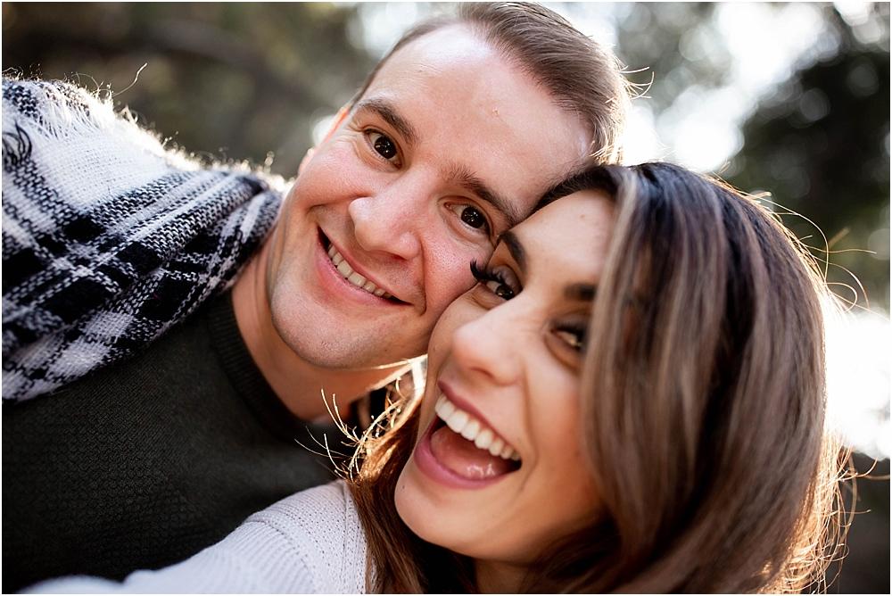 engaged couple selfie