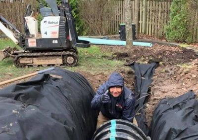 drain pipe installation