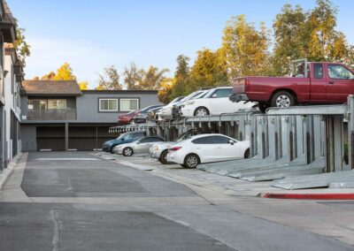 Lift parking spaces and cars