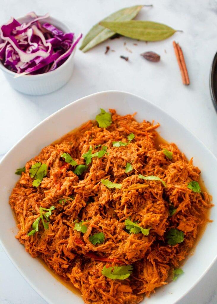 Instant Pot Shredded Tandoori Chicken