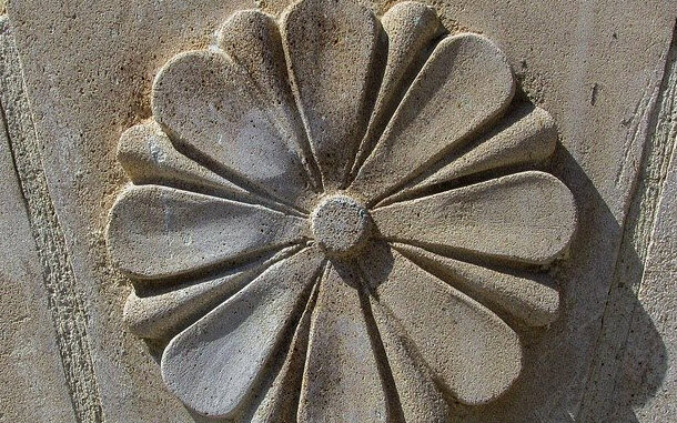 Sandstone Carved with a Dremel.