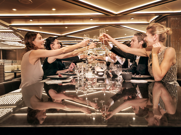 Guests dining at Indochine Restaurant, Silver Muse