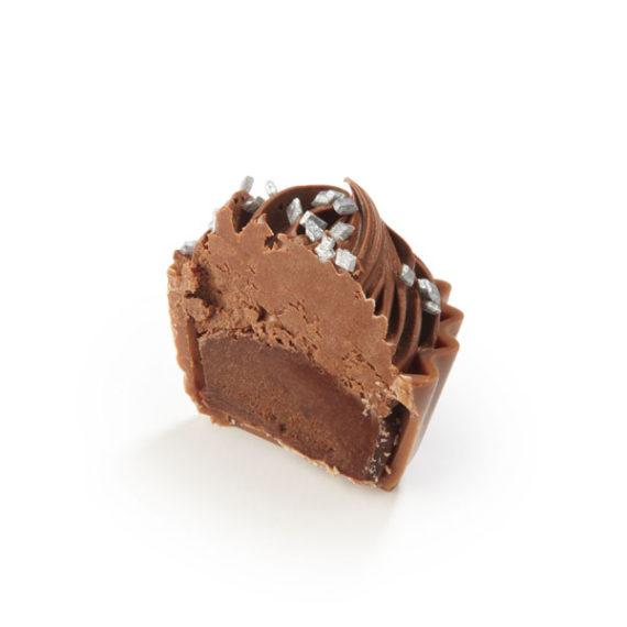 DARK CHOCOLATE GANACHE AND CHOCOLATE CREME TOPPING Half