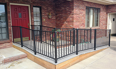 Wheelchair ramp installation in Colorado Springs, CO.