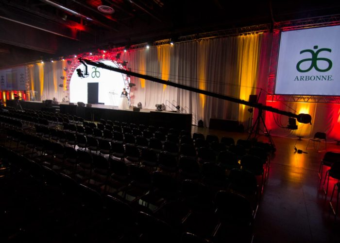Jib Operator in Montreal shooting Arbonne Conference