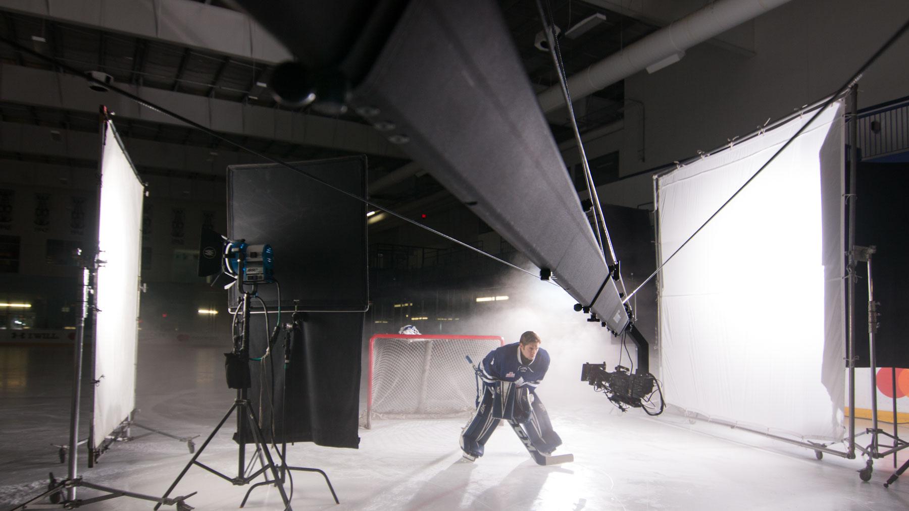 24' Jimmy Jib Triangle shooting Toronto Maple Leafs Media Day
