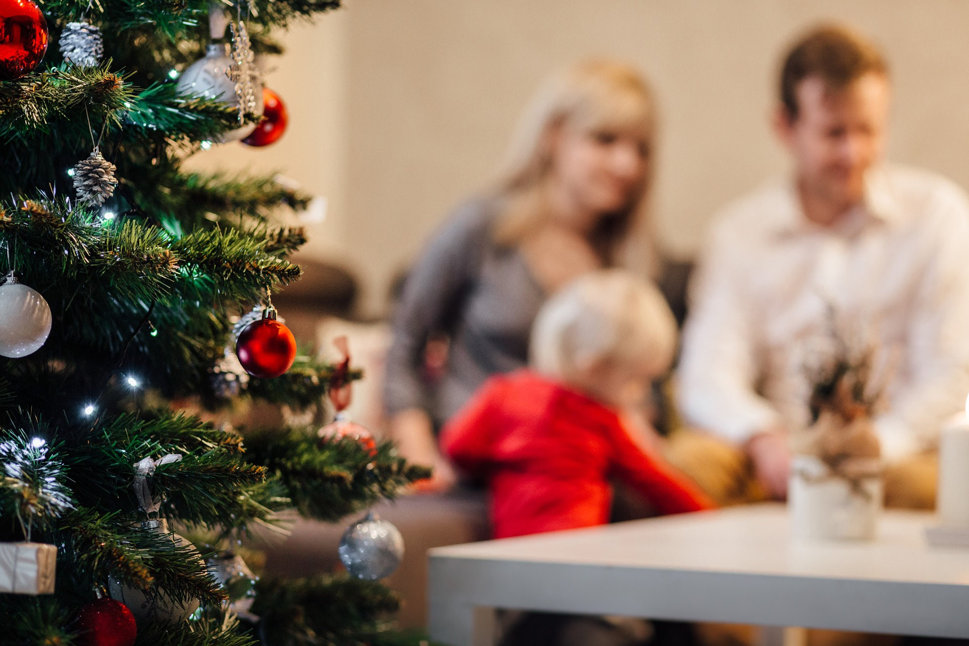 Children With ASD - A Family Celebrating Christmas