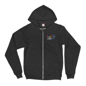 Paint for a Cure Embroidered Zip Up Hoodie sweater