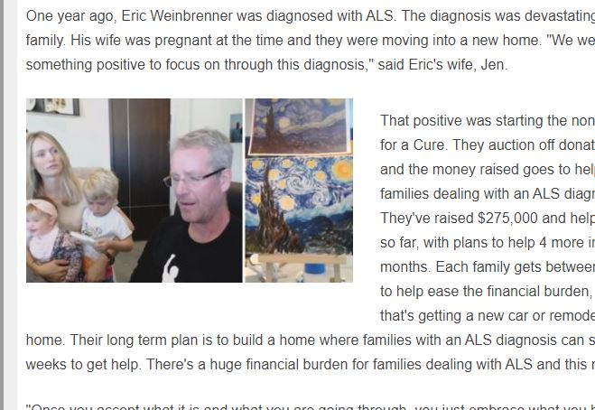 """Paradise Valley family turns ALS diagnosis into a positive with """"Paint for a Cure"""""""