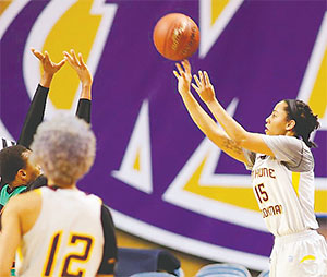 Kendra Cooper had 22 points in the game against FAMU.(COURTESY OF B-CU ATHLETICS)