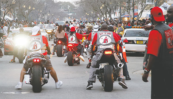 Members of the Set It Off Motorcycle Club from Beaufort, S.C., was among hundreds of other clubs visiting Daytona Beach during the recent Bike Week.
