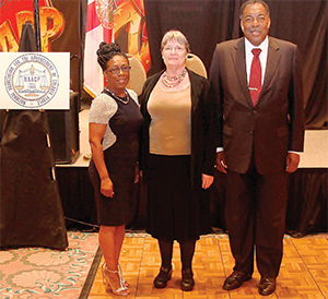 """Volusia County-NAACP President Cynthia Slater, left, is shown with Janie Forsyth-McKinney and Henry """"Hank'' Thomas at the 42nd Annual Freedom Fund and Awards Banquet.(PHOTOS BY DUANE C. FERNANDEZ SR./HARDNOTTSPHOTOGRAPHY.COM)"""