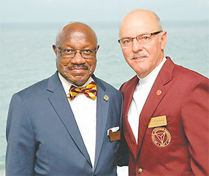 Dr. Edison Jackson, president of Bethune-Cookman University, and Dr. Joe Petrock, B-CU's new chairman, are looking forward to building new partnerships and working to improve the quality of life in Daytona Beach's Midtown.(COURTESY OF B-CU)