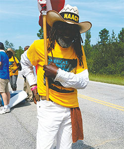 The NAACP mourns the loss of Middle Passage, 68, who died while participating in the Journey for Justice march.(J. ADAMS/NAACP)