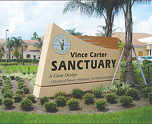 The Vince Carter Sanctuary houses Flagler County's Crisis Triage and Treatment Unit, which serves people referred by law enforcement who are experiencing behavioral health issues, and Project WARM, a long-term residential treatment program for women who are pregnant, post-partum or parenting young children.