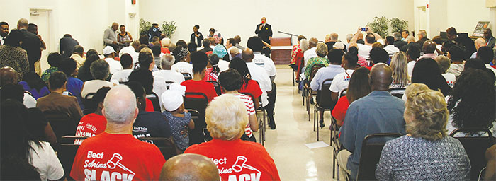 """The Volusia County-Daytona Beach NAACP and local chapters of Delta Sigma Theta Sorority and Omega Psi Phi Fraternity hosted a """"Meet the Candidates"""" night on Aug. 4 at Allen Chapel AME Church in Daytona Beach.(PHOTOS BY DUANE C. FERNANDEZ SR./HARDNOTTSPHOTOGRAPHY.COM)"""