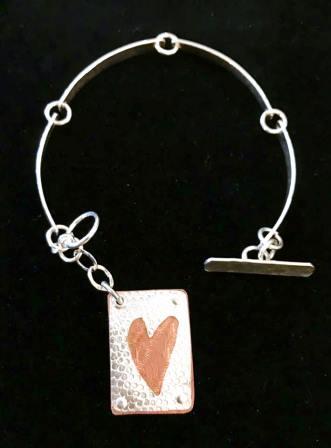 Copper Heart Bracelet Daisy Girl
