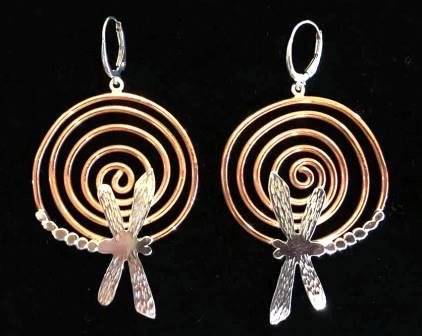 BC 10 19 3 Dragonfly Copper Spiral