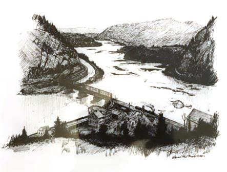 13 Days Dec12 Dan Murphy Hapers Ferry Print