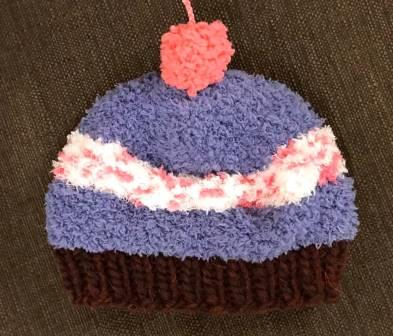 Black Raspberry Cupcake Hat SS