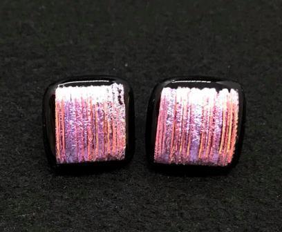 Glass Fused Post earrings Irene Vangsness