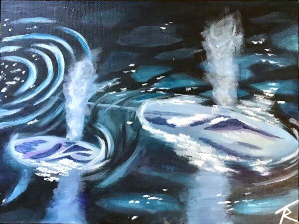Blue Whale Monochrome