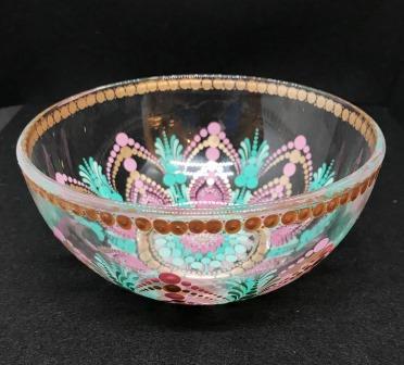 Mint and Pink Mandala Bowl (2)