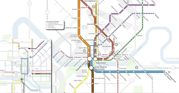 Capital Metro Map Project Connect 700
