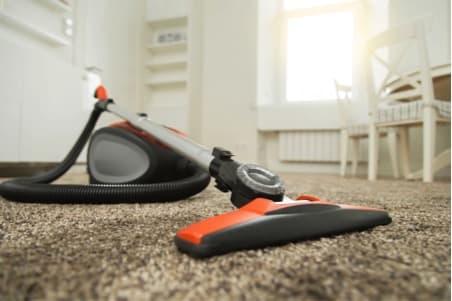 vacuum on the floor