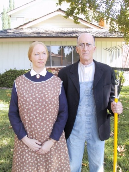 Lisa in American Gothic for PizzaHut