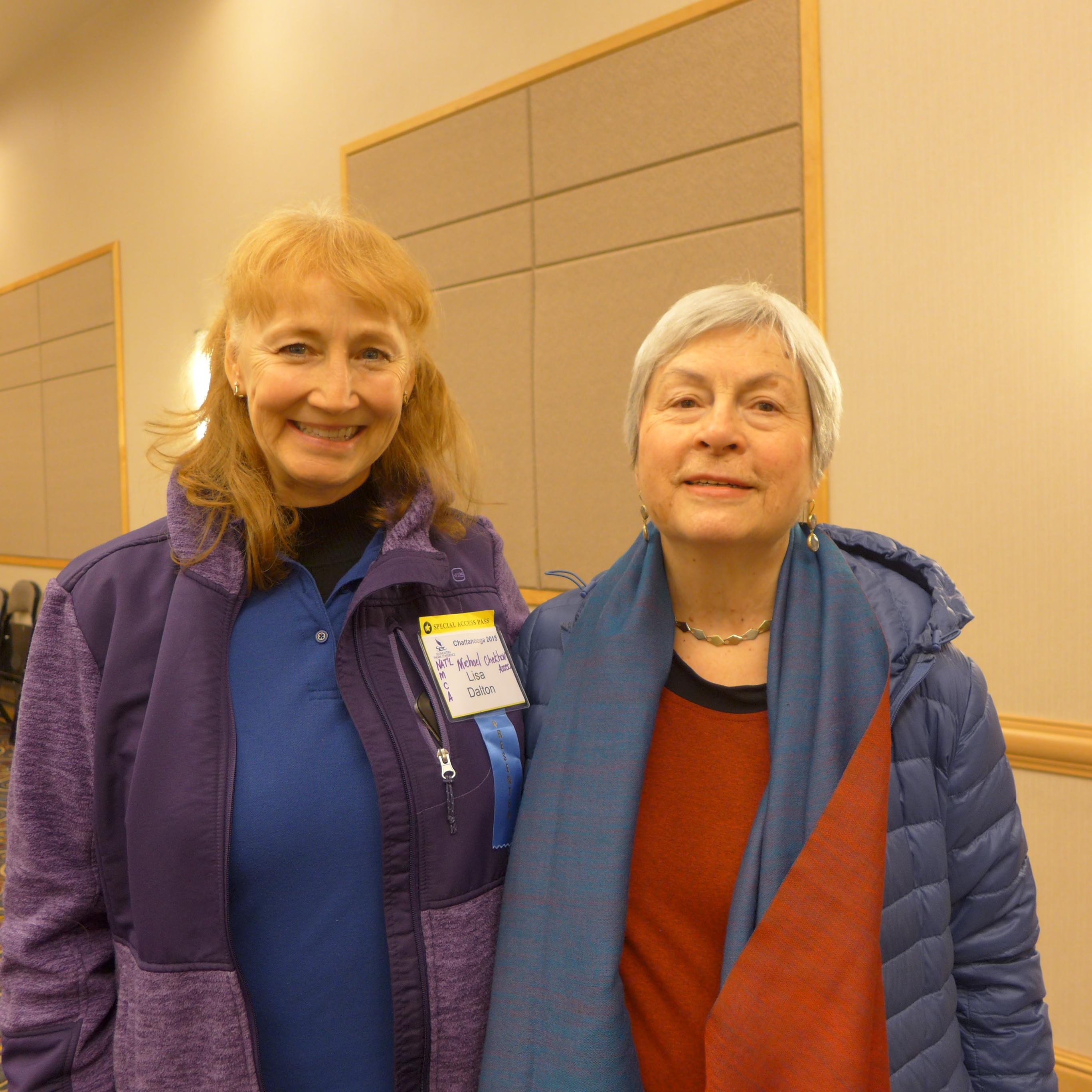 Michael Chekhov Master Teacher Lisa Dalton with Voice master teacher Kristin Linklater
