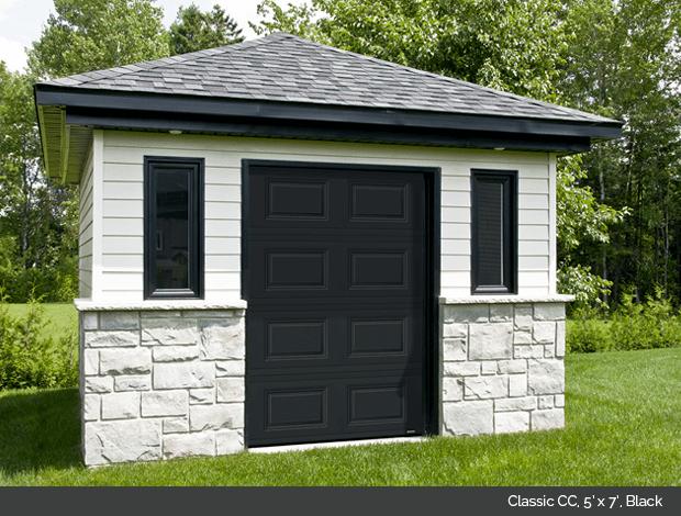 Classic CC Garaga garage door in Black