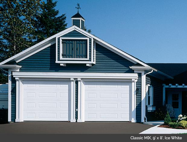 Classic MIX Garaga garage door in Ice White